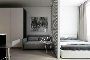 Separation Salon Chambre : d co studio et petit appartement 4 exemples remarquables ~ Zukunftsfamilie.com Idées de Décoration