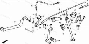 Honda Motorcycle 1989 Oem Parts Diagram For Pedal