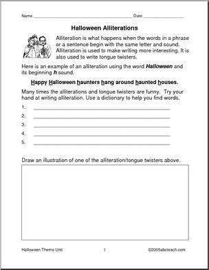 All Worksheets » Alliteration In Poetry Worksheets  Printable Worksheets Guide For Children And