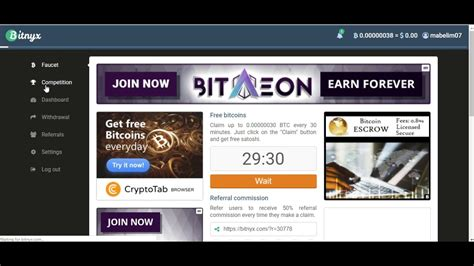 You can roll for free once every 5 minutes, 10 minutes, one hour, etc. CLAIM EVERY 30 MIN FREE BITCOIN - FAUCET BITNYX - YouTube