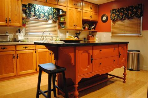 """Repurposed Antique Buffet. Transformed into an """"Eat At"""