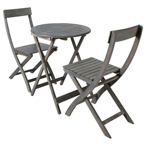 table chaises jardin table 2 chaises de jardin en acacia grise d 39 cm