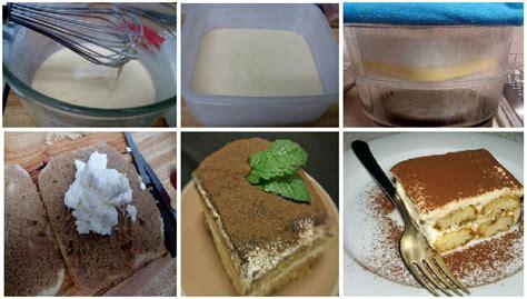 1 sendok makan tepung maizena (aduk dengan sedikit air) 1/2 kaleng susu kental manis. Resep Cara Membuat Tiramisu Cake Kukus Lembut Enak. No Scale, No oven, No Mixer