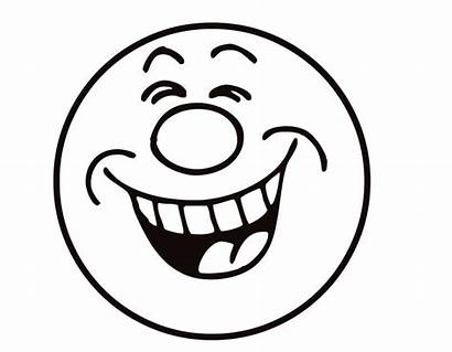 Clip Face Smiley Laughing Faces Clipart Coloring
