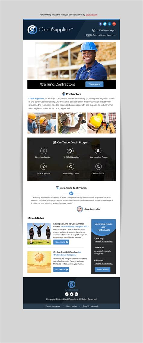 bold masculine construction company email marketing