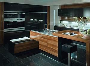 cuisine design bois massif With cuisine bois design