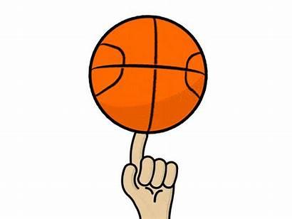 Ball Spin Basket Basketball Spinning Dribbble Animation
