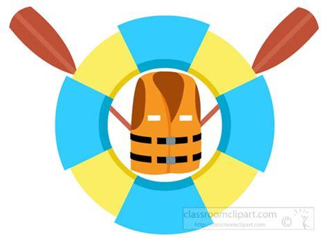 Boat Safety Clipart by Safety Clipart Boat Safety Jacket Oar Ring Buoys