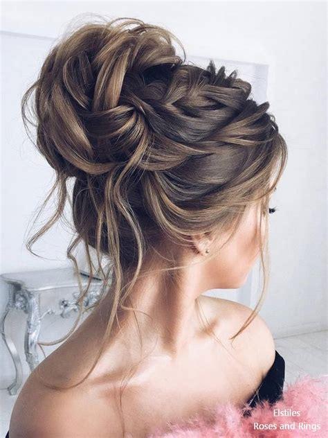 Top Updo Hairstyles by Top 20 Elstiles High Updo Wedding Hairstyles Roses Rings