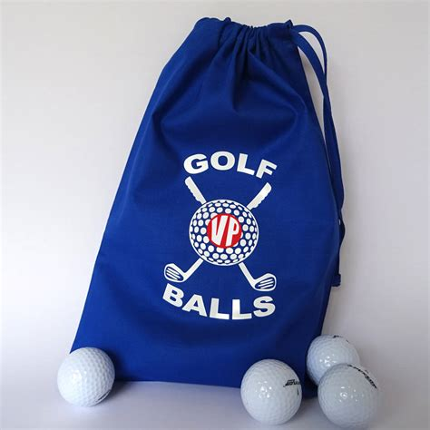 personalized golf ball bag  frozen fire notonthehighstreetcom