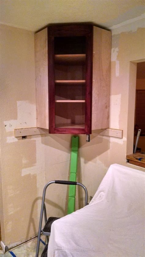 ana white  corner wall cabinet diy projects