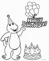 Birthday Happy Barney Coloring Pages Pbs Drawing Printable Colouring Lucky Precious Moments Cool2bkids Getcolorings Getdrawings Justin Line Angels Colorings sketch template