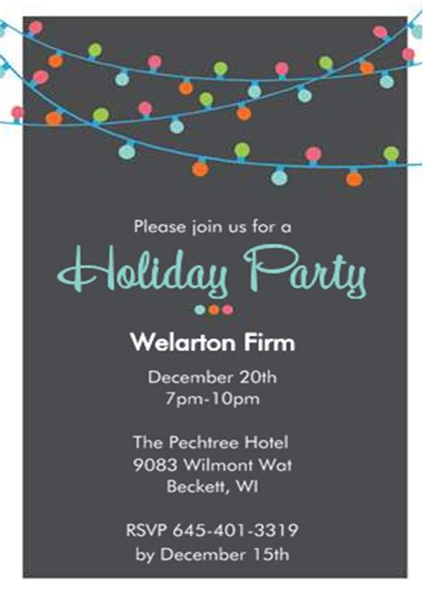 corporate luncheon invitation wording company christmas party invitations new selection for 2017