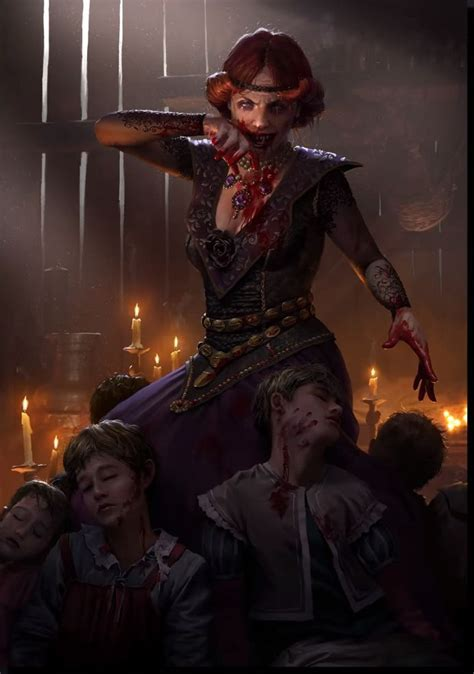 gwent images card art witcher monsters vampire art