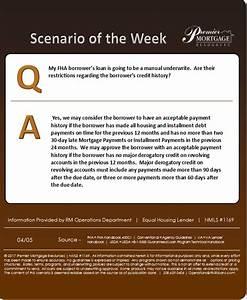 Scenario Of The Week  Fha Manual