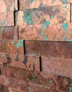 Kupfer Grüne Patina : wandpaneele metall kupfer t rkis klinker material id ~ Markanthonyermac.com Haus und Dekorationen