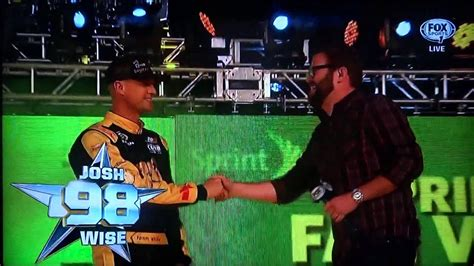 Jake Owen Jamming Out While Nascar Presents Josh Wise Of ...