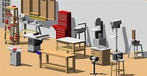 3D Shop Tools in CAD Format (AutoCAD/SketchUp) Delta & New