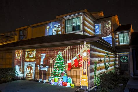 christmas light show projector christmas house projection mapping youtube
