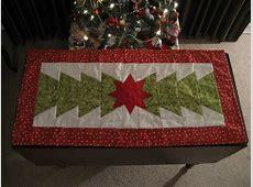 Christmas Table runner Half Hexi template used