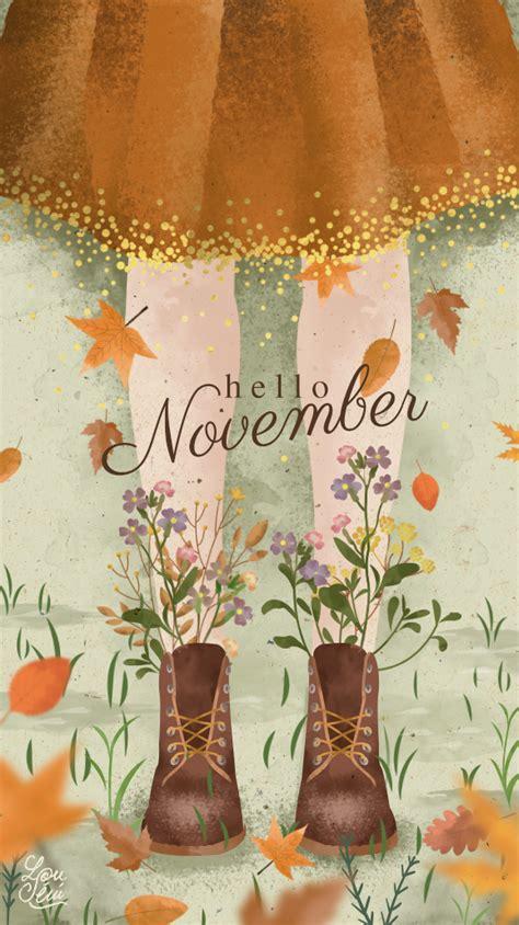 fond decran de novembre poesie automnale wallpaper