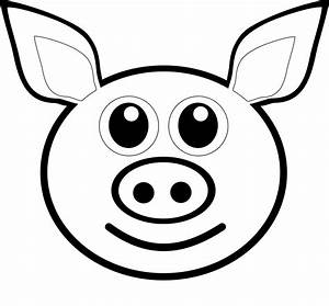 Free coloring pages of peppa pigs face