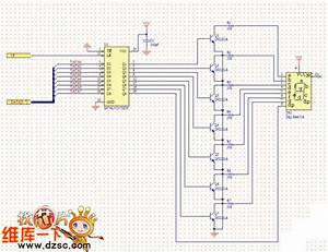 8-segment Led Driver Circuit Diagram