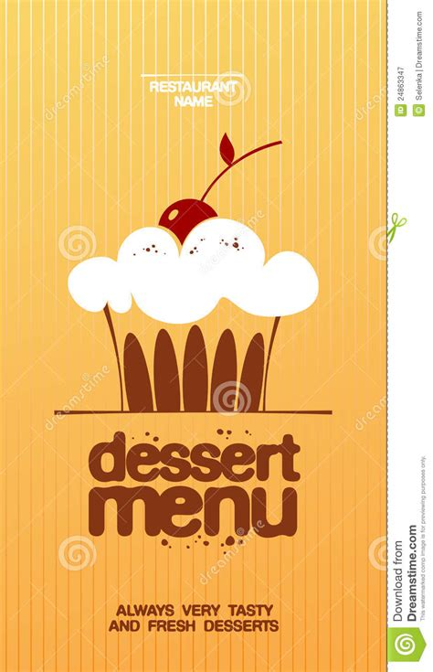 dessert menu royalty  stock photography image