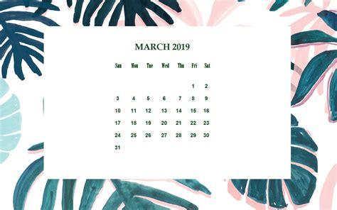 floral march  desktop calendar calendar wallpaper