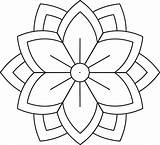 Mandala Coloring Pages Easy Flower Simple Printable Adults Patterns3 Printables Patterns Drive2vote sketch template
