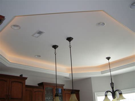tray ceiling lights reflect the surface for the look warisan lighting