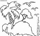 Island Coloring Printable Colorings Jawar sketch template