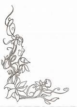 Border Corner Flower Floral Sketch Borders Templates Deviantart Template Coloring Decorative Sketches Frames Adult Cute Nouveau Simple Pages Drawing Designs sketch template