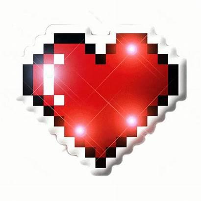 Pixel Heart Bit Flashing Led Lights Blinky