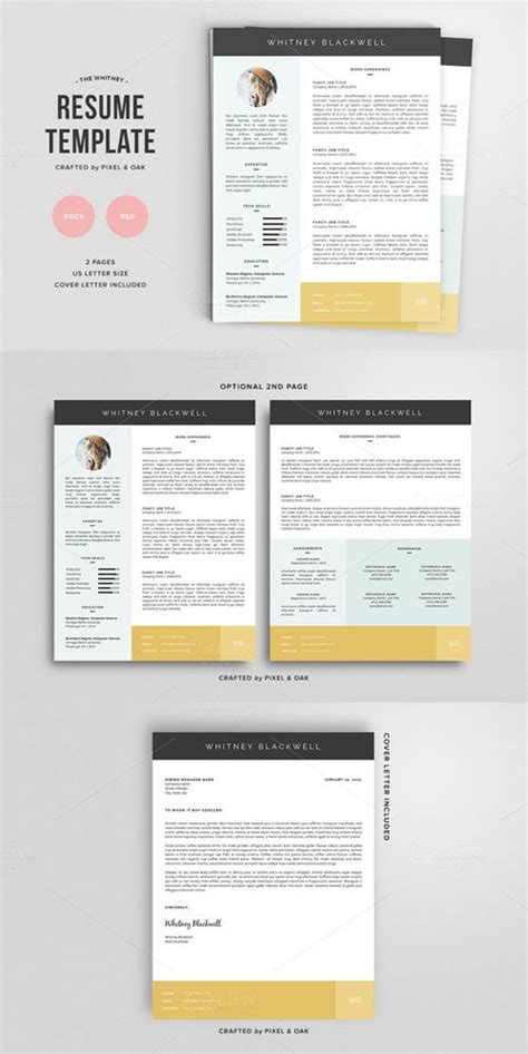 Resume Template The 3pk by Resume Template The 3pk Creativemarket 135254