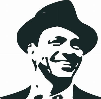 Sinatra Frank Clip Stencil Vector Clipart Jazz