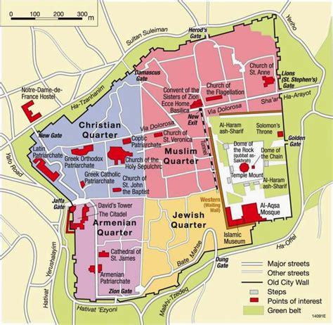 map   city  jerusalem  printable maps