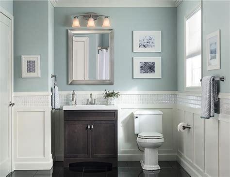 hide toiletries tastefully   dark vanity  cool pale