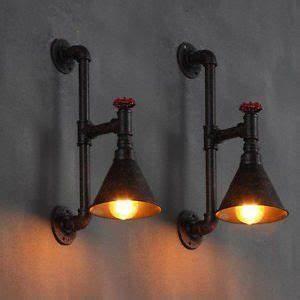 Lampe Murale Industrielle : lampe industrielle murale en tuyau applique style r tro steampunk vintage noir ~ Teatrodelosmanantiales.com Idées de Décoration