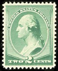 George Washington 2 Cent Stamp Value