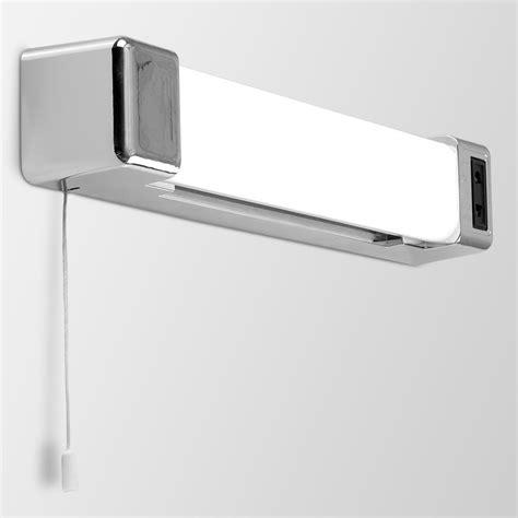 modern silver chrome effect 5w led bathroom wall light