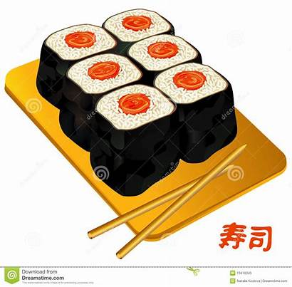 Sushi China Roll Susi Clip Clipart Royalty