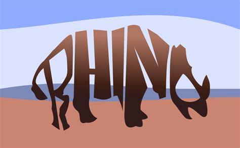 rhino   text design typography