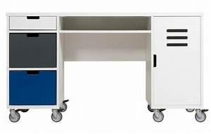 Bureau Sur Roulette : bureau enfant et ado file dans ta chambre ~ Teatrodelosmanantiales.com Idées de Décoration
