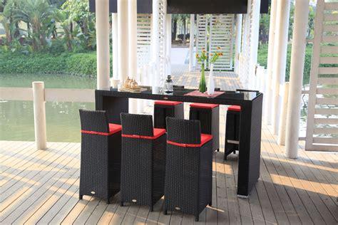 Gartenmöbel Rattan Bar Vip Garten Tisch Und Barhocker
