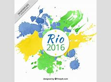 Artistic rio 2016 olympic games background with paint