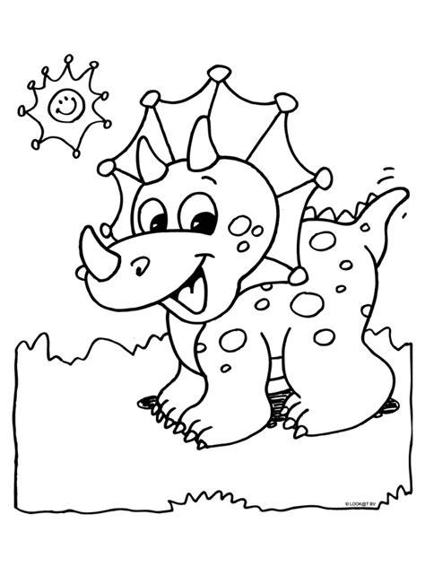 Kleurplaat De Dinosaurussen by Kleurplaat Dino Dino S Kleurplaten Kleurplaten
