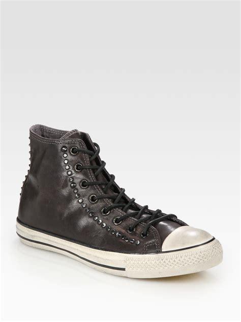 converse john varvatos studded leather hightop sneakers
