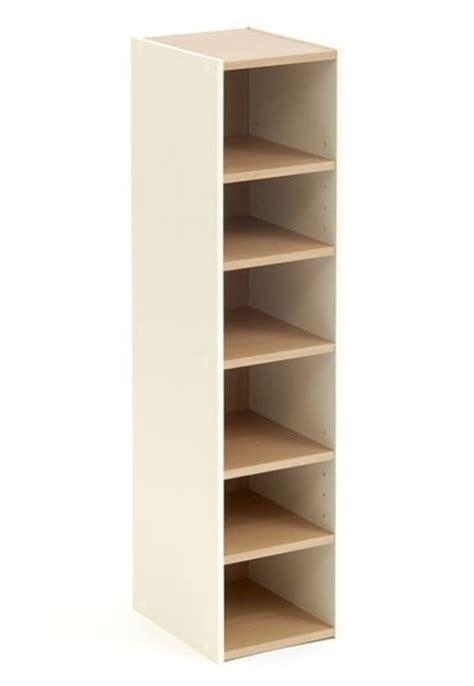 shoe storage cupboard tower open beech 6 shelf