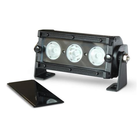 flashtech black led light bar single row 6 inch